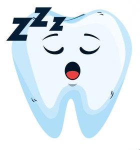 Tooth sleeping logo